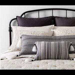 Hearth & Hand Accents - Euro Pillow Sham Railroad Grey Hearth & Hand New